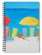 Beach Painting - Deck Chairs Spiral Notebook