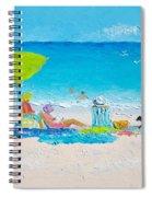 Beach Painting - Lazy Beach Day Spiral Notebook