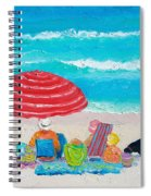 Beach Painting - One Summer Spiral Notebook