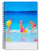 Beach Painting - Water Play  Spiral Notebook