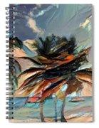 Beach Palms - Multi 9a Spiral Notebook