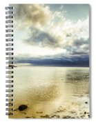 Beach Panorama Of A Sunrise Over The Sea Spiral Notebook