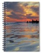 Beach Play At Dusk Spiral Notebook