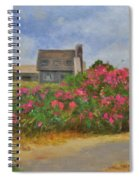 Beach Roses And Cottages Spiral Notebook