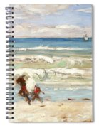 Beach Scene Tangier Spiral Notebook