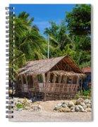 Beach Side Nipa Hut Spiral Notebook