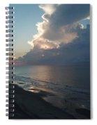Beach Silver Lining  Spiral Notebook