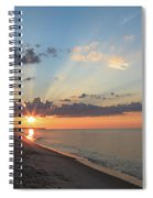 Beach Sunrise Spiral Notebook