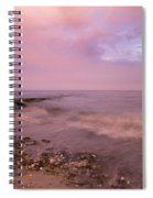 Beach Sunset In Connecticut Landscape Spiral Notebook