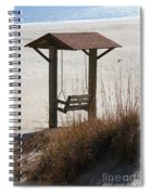 Beach Swing Spiral Notebook