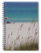 Beach Time At The Gulf - Before The Oil Spill Disaster Spiral Notebook