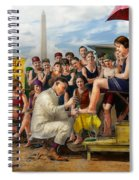 Beach - Toes Tenderly Treated 1922 Spiral Notebook