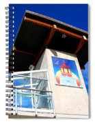 Beach Tower In Blue Sky Spiral Notebook