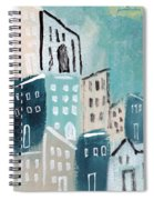 Beach Town- Art By Linda Woods Spiral Notebook