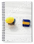 Beach Tracks Spiral Notebook