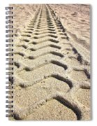 Beach Tracks Spiral Notebook