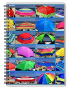 Beach Umbrella Medley Spiral Notebook