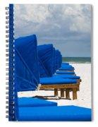 Beach Umbrellas 3 By Darrell Hutto Spiral Notebook