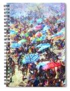 Beach Umbrellas Spiral Notebook