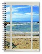 Beach View From Your Living Room Window Spiral Notebook