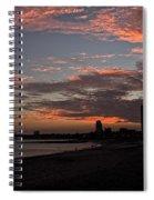 Beach Walk At Sunset Spiral Notebook