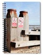 Beach Warning Spiral Notebook