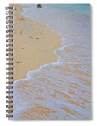 Beach Water Curves Spiral Notebook