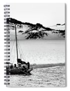 Beached At Coorong Bw Spiral Notebook
