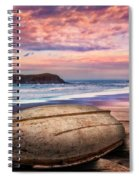 Beached At Sunset Spiral Notebook