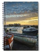 Beached Boats On Trocadero Pipe Puerto Real Cadiz Spain Spiral Notebook