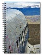 Beached Plane Wreckage - Iceland Spiral Notebook