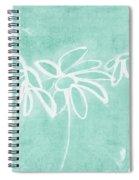 Beachglass And White Flowers 3- Art By Linda Woods Spiral Notebook