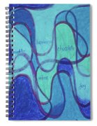 Beachy Two Spiral Notebook