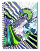 Beaded Curtain Spiral Notebook