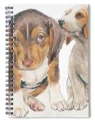 Beagle Puppies Spiral Notebook