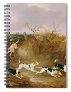 Beagles In Full Cry Spiral Notebook