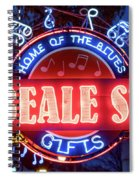 Beale Street Home Of The Blues Spiral Notebook