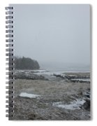 Beals Cove During A Snow Storm Spiral Notebook
