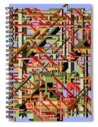 Beams Abstract Art Spiral Notebook