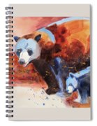 Bear Family Outing Spiral Notebook