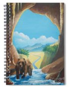 Bear Going Home Spiral Notebook