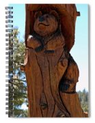 Bear In Wood Spiral Notebook