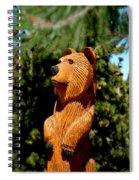 Bear In Woods Spiral Notebook
