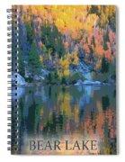 Bear Lake Colorado Poster Spiral Notebook