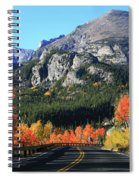 Bear Lake Road In Autumn Spiral Notebook