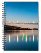 Bear Mountain Bridge At Dusk. Spiral Notebook
