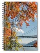 Bear Mountain Bridge Fall Color Spiral Notebook