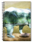 Bear On The Little Tennessee River Spiral Notebook