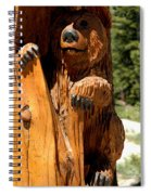 Bear On Trail Spiral Notebook