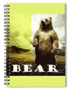 Brown Grizzly Bear Spiral Notebook